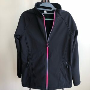 Ideology Light Jacket Black with Pink trim